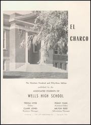 Page 5, 1953 Edition, Wells High School - Charco Yearbook (Wells, NV) online yearbook collection