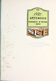 Page 5, 1927 Edition, University of Nevada - Artemisia Yearbook (Reno, NV) online yearbook collection