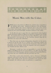 Page 18, 1918 Edition, Miami University - Recensio Yearbook (Oxford, OH) online yearbook collection