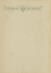 Page 2, 1918 Edition, Miami University - Recensio Yearbook (Oxford, OH) online yearbook collection