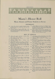 Page 22, 1918 Edition, Miami University - Recensio Yearbook (Oxford, OH) online yearbook collection