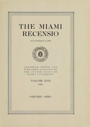 Page 3, 1918 Edition, Miami University - Recensio Yearbook (Oxford, OH) online yearbook collection