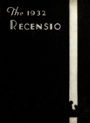 Page 1, 1932 Edition, Miami University - Recensio Yearbook (Oxford, OH) online yearbook collection