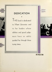 Page 9, 1932 Edition, Miami University - Recensio Yearbook (Oxford, OH) online yearbook collection