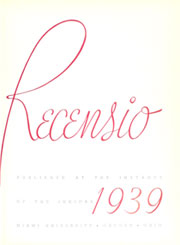 Page 9, 1939 Edition, Miami University - Recensio Yearbook (Oxford, OH) online yearbook collection