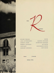 Page 4, 1950 Edition, Miami University - Recensio Yearbook (Oxford, OH) online yearbook collection