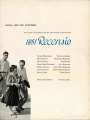 Page 5, 1951 Edition, Miami University - Recensio Yearbook (Oxford, OH) online yearbook collection