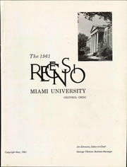 Page 7, 1961 Edition, Miami University - Recensio Yearbook (Oxford, OH) online yearbook collection
