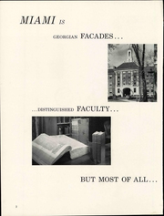 Page 8, 1961 Edition, Miami University - Recensio Yearbook (Oxford, OH) online yearbook collection