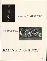 Page 9, 1961 Edition, Miami University - Recensio Yearbook (Oxford, OH) online yearbook collection