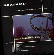 Page 7, 1965 Edition, Miami University - Recensio Yearbook (Oxford, OH) online yearbook collection