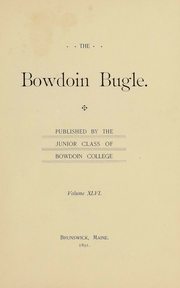 Page 15, 1892 Edition, Bowdoin College - Bugle Yearbook (Brunswick, ME) online yearbook collection