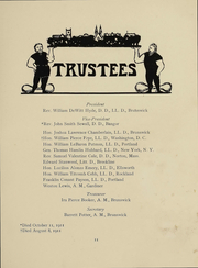 Page 12, 1913 Edition, Bowdoin College - Bugle Yearbook (Brunswick, ME) online yearbook collection