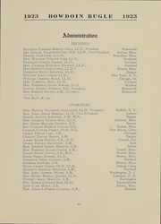 Page 11, 1923 Edition, Bowdoin College - Bugle Yearbook (Brunswick, ME) online yearbook collection