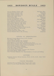 Page 12, 1923 Edition, Bowdoin College - Bugle Yearbook (Brunswick, ME) online yearbook collection