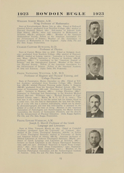Page 15, 1923 Edition, Bowdoin College - Bugle Yearbook (Brunswick, ME) online yearbook collection