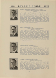 Page 16, 1923 Edition, Bowdoin College - Bugle Yearbook (Brunswick, ME) online yearbook collection