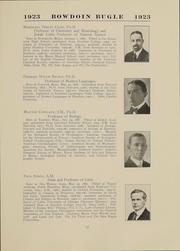 Page 17, 1923 Edition, Bowdoin College - Bugle Yearbook (Brunswick, ME) online yearbook collection