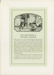 Page 10, 1930 Edition, Central College - Pelican Yearbook (Pella, IA) online yearbook collection