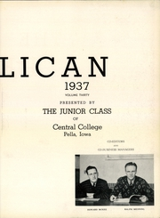 Page 7, 1937 Edition, Central College - Pelican Yearbook (Pella, IA) online yearbook collection