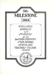 Page 5, 1923 Edition, Eastern Kentucky University - Milestone Yearbook (Richmond, KY) online yearbook collection