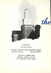 Page 6, 1940 Edition, Eastern Kentucky University - Milestone Yearbook (Richmond, KY) online yearbook collection