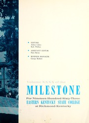 Page 7, 1963 Edition, Eastern Kentucky University - Milestone Yearbook (Richmond, KY) online yearbook collection