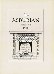 Page 7, 1922 Edition, Asbury University - Ashburian Yearbook (Wilmore, KY) online yearbook collection