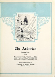 Page 7, 1928 Edition, Asbury University - Ashburian Yearbook (Wilmore, KY) online yearbook collection