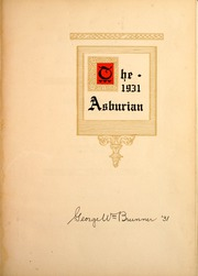 Page 5, 1931 Edition, Asbury University - Ashburian Yearbook (Wilmore, KY) online yearbook collection