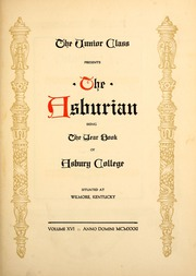 Page 7, 1931 Edition, Asbury University - Ashburian Yearbook (Wilmore, KY) online yearbook collection