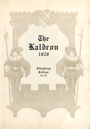 Page 6, 1928 Edition, Allegheny College - Kaldron Yearbook (Meadville, PA) online yearbook collection