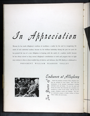 Page 12, 1941 Edition, Allegheny College - Kaldron Yearbook (Meadville, PA) online yearbook collection