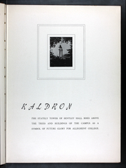 Page 7, 1941 Edition, Allegheny College - Kaldron Yearbook (Meadville, PA) online yearbook collection
