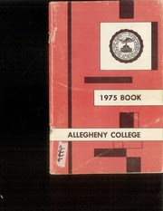 Allegheny College - Kaldron Yearbook (Meadville, PA) online yearbook collection, 1975 Edition, Page 1