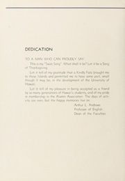 Page 10, 1936 Edition, University of Hawaii Honolulu - Ka Palapala Yearbook (Honolulu, HI) online yearbook collection