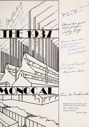 Page 7, 1937 Edition, California University of Pennsylvania - Monocal Yearbook (California, PA) online yearbook collection