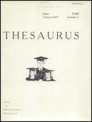 Page 3, 1948 Edition, Manchester West High School - Thesaurus Yearbook (Manchester, NH) online yearbook collection