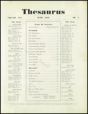 Page 7, 1949 Edition, Manchester West High School - Thesaurus Yearbook (Manchester, NH) online yearbook collection