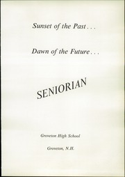 Page 5, 1967 Edition, Groveton High School - Seniorian Yearbook (Groveton, NH) online yearbook collection