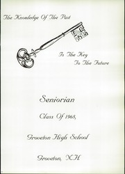 Page 5, 1968 Edition, Groveton High School - Seniorian Yearbook (Groveton, NH) online yearbook collection