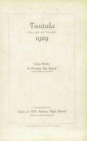Page 5, 1929 Edition, Nashua High School - Tusitala Yearbook (Nashau, NH) online yearbook collection