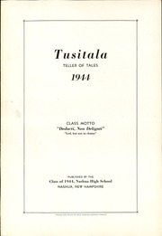 Page 5, 1944 Edition, Nashua High School - Tusitala Yearbook (Nashau, NH) online yearbook collection
