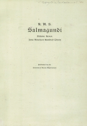 Page 3, 1930 Edition, Keene High School - Salmagundi Yearbook (Keene, NH) online yearbook collection