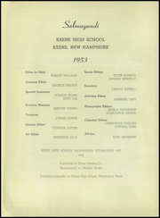 Page 4, 1953 Edition, Keene High School - Salmagundi Yearbook (Keene, NH) online yearbook collection