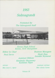 Page 3, 1983 Edition, Keene High School - Salmagundi Yearbook (Keene, NH) online yearbook collection