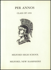 Page 5, 1959 Edition, Milford High School - Spartan Yearbook (Milford, NH) online yearbook collection