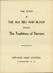 Page 3, 1953 Edition, Stevens High School - Red and Black Yearbook (Claremont, NH) online yearbook collection