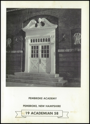 Page 5, 1958 Edition, Pembroke Academy - Academian Yearbook (Pembroke, NH) online yearbook collection