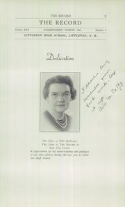 Page 11, 1942 Edition, Littleton High School - Record Yearbook (Littleton, NH) online yearbook collection